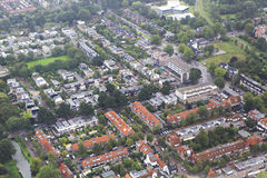 Amsterdam from the plane Royalty Free Stock Image