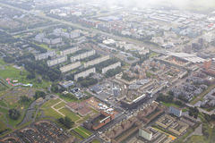 Amsterdam from the plane Royalty Free Stock Photography
