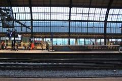Amsterdam platform Stock Photo