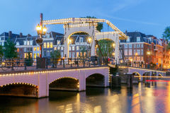 amsterdam Pont maigre images stock