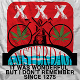 Amsterdam Poster Man T shirt Graphic Design Royalty Free Stock Photo