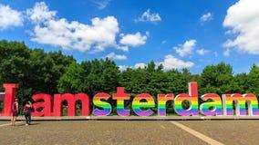 Amsterdam pride hyperlapse 4K stock footage