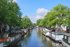 Amsterdam. Prinsengracht canal Royalty Free Stock Images