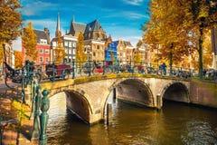 Amsterdam przy jesienią Zdjęcie Royalty Free