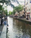 Amsterdam rött ljusområde Arkivbild