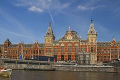 Amsterdam Railway Station Royalty Free Stock Images