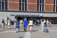 Amsterdam Railway Station Stock Image