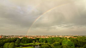 Amsterdam rainbow time lapse Royalty Free Stock Photo