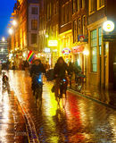 Amsterdam rainy Royalty Free Stock Photo