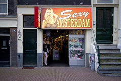 Amsterdam Red Light District Royalty Free Stock Images