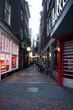 Amsterdam Red Light District Royalty Free Stock Photography