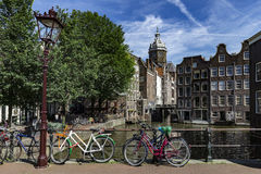 Amsterdam Red Light District Stock Photography