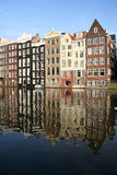 Amsterdam Reflections. Amsterdam canal houses reflected in the water royalty free stock photography