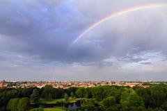 amsterdam regnbåge royaltyfri bild