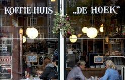 amsterdam restaurang Fotografering för Bildbyråer