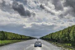 Amsterdam Rhine kanału perspektywa zdjęcia royalty free
