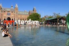Amsterdam Rijk Museum, Nederländerna Royaltyfri Fotografi