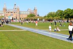 Amsterdam Rijk Museum, Nederländerna Royaltyfri Foto