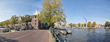 Amsterdam and the river Amstel in the Netherlands Royalty Free Stock Images
