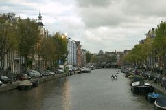 Amsterdam river Stock Images