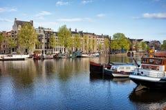 Amsterdam River View Stock Photos