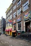 Amsterdam-rote Leuchte-Bezirk Stockfotos