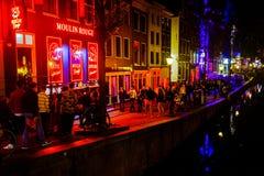 Amsterdam-rote Leuchte-Bezirk Stockfotografie