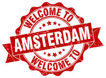 Amsterdam round ribbon seal Stock Images