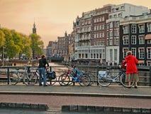 amsterdam rowerów Fotografia Stock