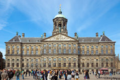 Amsterdam - Royal Palace at the Dam Square Stock Photos