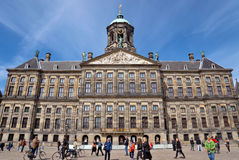Amsterdam - Royal Palace at the Dam Square Royalty Free Stock Photo