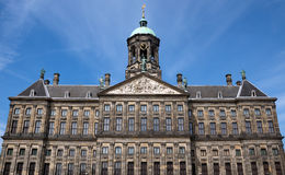 Amsterdam - Royal Palace at the Dam Square Royalty Free Stock Images