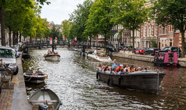 Amsterdam's canals Royalty Free Stock Images