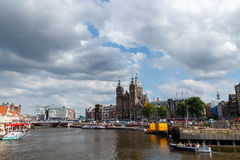 Amsterdam's canals Stock Images