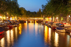 Amsterdam's canals. Stock Photos