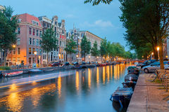Amsterdam's canals. Royalty Free Stock Photos