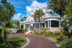 Amsterdam's Curry Mansion Inn in Key West royalty free stock photos