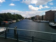 Amsterdam& x27; s-kanal Royaltyfria Bilder