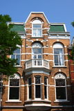 Amsterdam's traditional architecture. Traditional Dutch architecture in Amsterdam Stock Photo