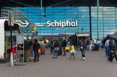 Amsterdam schiphol airport entrance Royalty Free Stock Images