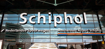 Amsterdam - Schiphol airport Stock Photography