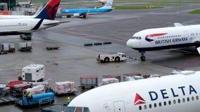 Amsterdam Schiphol international airport stock video footage