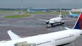 Amsterdam Schiphol international airport stock footage