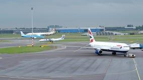 Amsterdam Schiphol international airport stock video