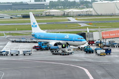 Amsterdam Schiphol international airport Royalty Free Stock Photography