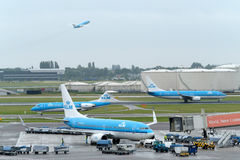 Amsterdam Schiphol international airport Stock Photo