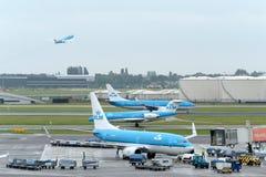 Amsterdam Schiphol international airport Royalty Free Stock Photos