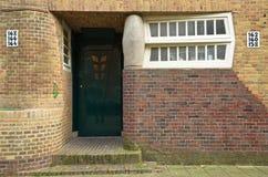 Amsterdam-Schuleingang Stockfoto