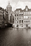 Amsterdam in sepia Royalty Free Stock Photos