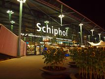 Amsterdam city airport Schiphol. September 07, 2012 Royalty Free Stock Image